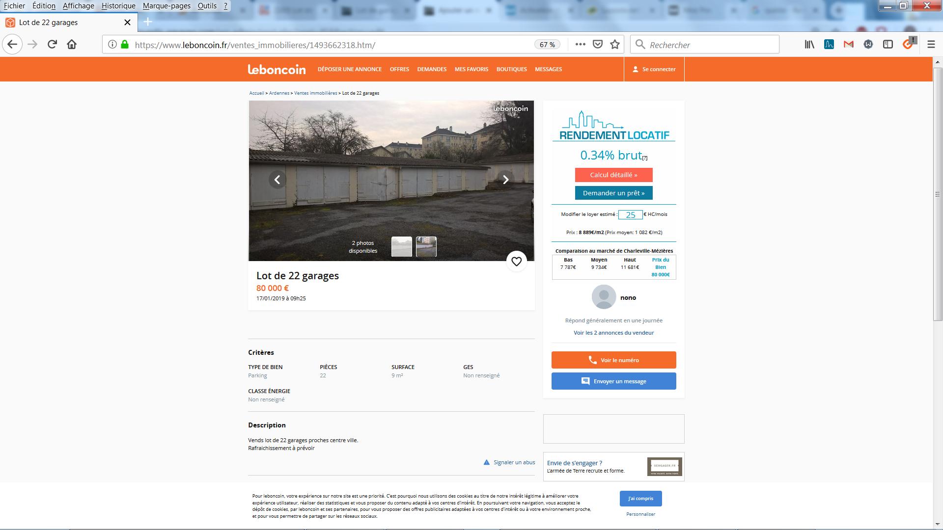 Lot de garages à Charleville Mézières
