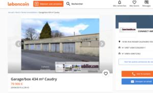 Lot de garages à vendre sur Caudry
