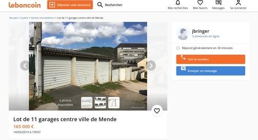 Lot de garage à Mende